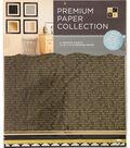 DCWV 12\u0022x12\u0022 set of 5 Premium Papers-Black and Gold Assortment??
