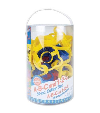 Wilton® Plastic Cookie Cutters-ABC & 123