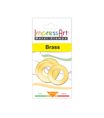 """Washer, Brass, 1"""" OD with 1/4"""" Ring, 4 Pcs."""