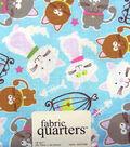 Fabric-Quarters Assorted Fabric-Cat