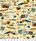 Snuggle Flannel Fabric 42\u0027\u0027-Reel, Tackle & River