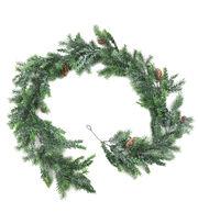 Blooming Holiday Christmas 72'' Tsuga Hemlock Glisten Garland-Green, , hi-res