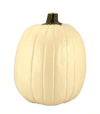 Fun-kins™ Halloween 14'' Artificial Carvable Pumpkin-Ivory