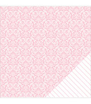 American Crafts Basics Damask Double-Sided Cardstock, , hi-res