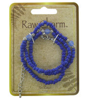 Naturals Raw Charm Blue Silver Necklace, , hi-res