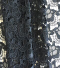 Modern Vintage Lace Fabric 48\u0027\u0027-Black Floral