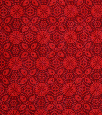 "Keepsake Calico™ Cotton Fabric 43""-Biking Red Medallion Blender"