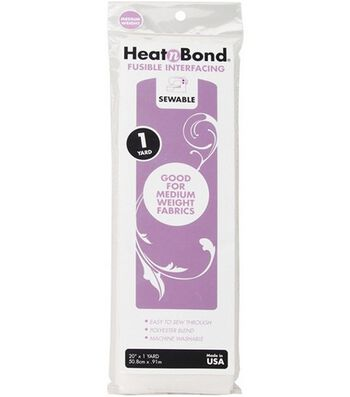 "Heat'n Bond Medium-Weight Iron-On Fusible Interfacing-20""X36"""