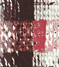 Silky Prints Stretch Charmeuse Fabric-Plaid Brown