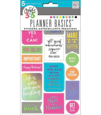 Create 365 Planner Stickers 5 Sheets/Pkg-Neon-Rock This Day
