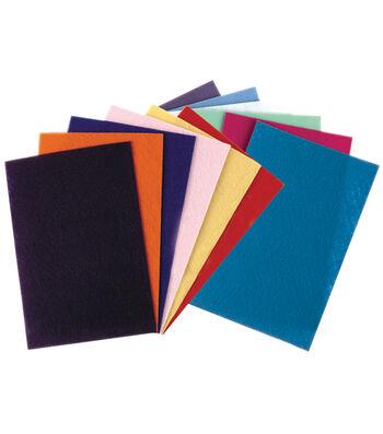 """Felt Sheets 9""""X12"""" 12/Pkg-Assorted Colors"""