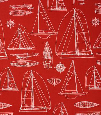 Solarium Outdoor Print Fabric 54''-Red Helm
