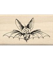 Inkadinkado® Mounted Rubber Stamp-Scaredy Bat, , hi-res