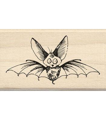 Inkadinkado® Mounted Rubber Stamp-Scaredy Bat