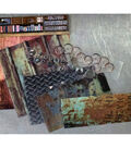 Architextures Junque Adhesive Embellishments Pack-Garage