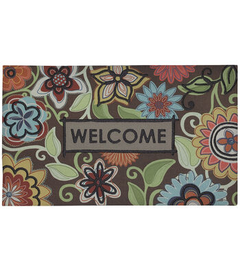 Mohawk Home 18''x30'' Recycled Rubber Doormat-Flowers Of Youth
