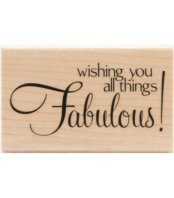 """Mounted Rubber Stamp 2.5""""X2.5""""-Fabulous"""