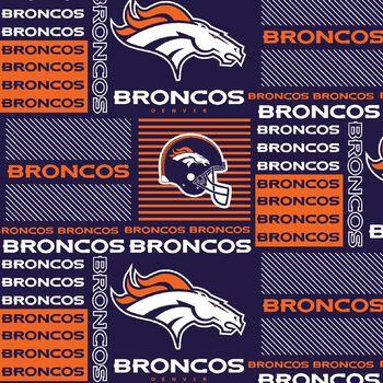 """Denver Broncos Cotton Fabric 58""""-Patch"""