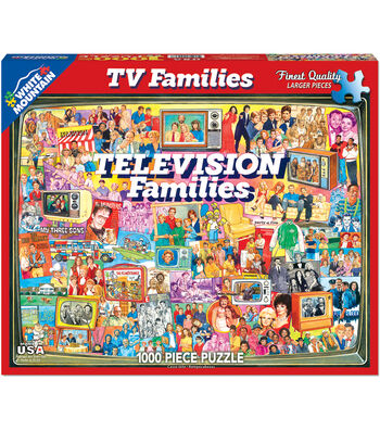 White Mountain Puzzles 1000 Pieces 24''x30'' Jigsaw Puzzle-TV Families