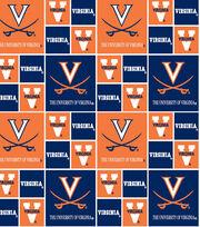 """University of Virginia Cavaliers Cotton Fabric 44""""-Block, , hi-res"""