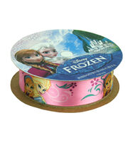 "Frozen Ribbon 7/8""x9'-Anna&Elsa, , hi-res"