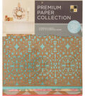 DCWV 12\u0022x12\u0022 set of 5 Premium Papers-Pink/Natural Assortment
