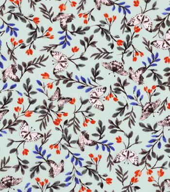 """Spring Sheen Stretch Chiffon Fabric 55""""-Butterfly Garden"""