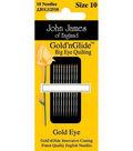 John James Gold\u0027n Glide Big Eye Quilting Needles-2 Sizes