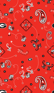 "University of Georgia Bulldogs Cotton Fabric 44""-Bandana, , hi-res"