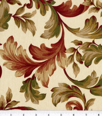 "Home Essentials Print Fabric 45""-Abigail Ruby"