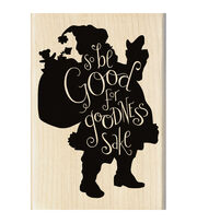 Inkadinkado® Mounted Rubber Stamp-Be Good, , hi-res