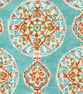 Home Decor 8\u0022x8\u0022 Fabric Swatch-Dena Mirage Medallion Capri