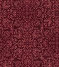 Vintage Cotton Fabric 43\u0027\u0027-Floral Medallions on Red
