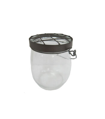 Bloom Room Small Glass Container with Chicken Wire