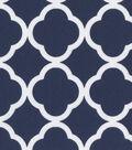 Keepsake Calico Cotton Fabric 44\u0027\u0027-White Quatrefoil on Navy
