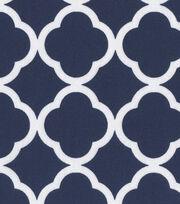 Keepsake Calico™ Cotton Fabric 44''-White Quatrefoil on Navy, , hi-res