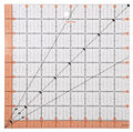 Fiskars® Square Acrylic Ruler (8.5\u0022 x 8.5\u0022)