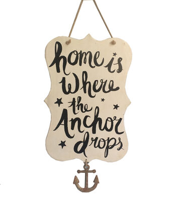 Sea to Sea Metal Wall Decor-Home Is Where The Anchor Drops