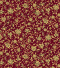 Asian Inspired Cotton Fabric 44\u0022-Mini Packed Floral Red Met
