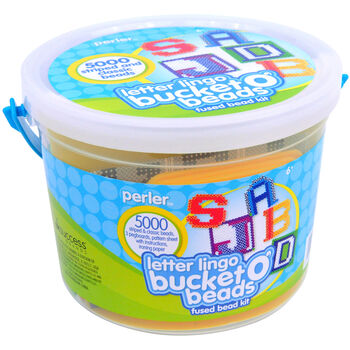 Perler Bucket O' Beads Fun Fusion Fuse Bead Kit-Letter Lingo
