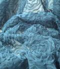 All That Glitters Embroidered Mesh Fabric 59\u0022-Rosebud Blue Radiance