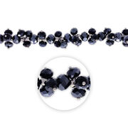 "Blue Moon Beads 7"" Crystal Strand, Dangles, Hematite, , hi-res"
