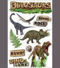 Paper House 3-D Sticker-Dinosaurs