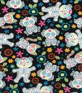Novelty Cotton Fabric-Animal Skeletons