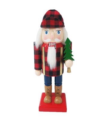 Maker's Holiday Christmas 9.25'' Nutcracker-Buffalo Plaid
