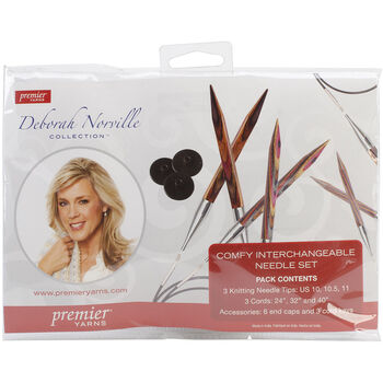 Deborah Norville Interchangeable Knitting Set-Sizes 10, 10.5 & 11