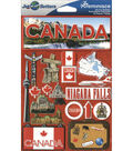 Jet Setters Dimensional Stickers-Canada