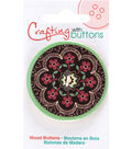 Crafting with Buttons Global Chic 1.75\u0027\u0027 Wood Button-Turkey