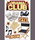 Paper House 3-D Sticker-Drama Club