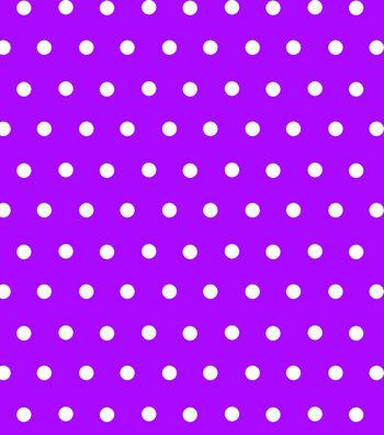 Tutti Fruitti Embellished Basic Fabric 44''-Aspirin Dots on Purple